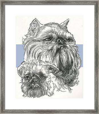 Brussels Griffon And Pup Framed Print