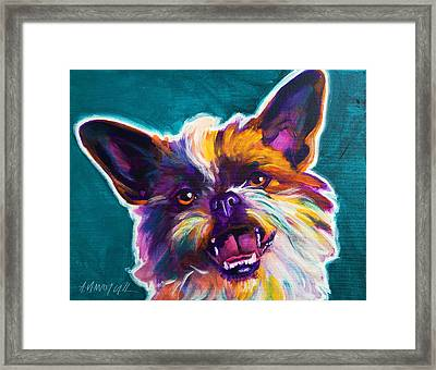 Chussel - Spicey Framed Print by Alicia VanNoy Call