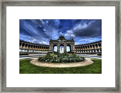 Framed Print featuring the photograph Brussels Parc Du Cinquantenaire by Shawn Everhart