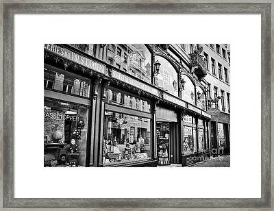 Brussels Toy Store Framed Print