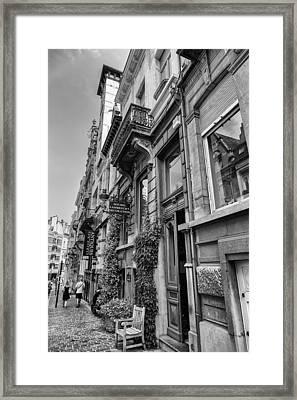 Brussels Urban Scene Framed Print
