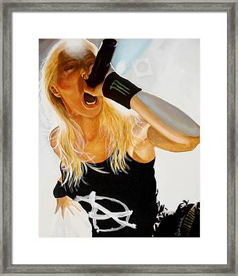 Brutal Metal Queen Framed Print by Al  Molina