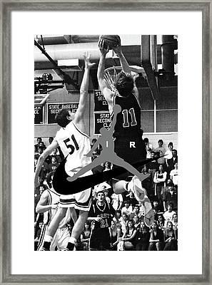 Bryan Nelson Goes Michael Air Jordan, A Shawnee Mission East High School Legend Framed Print