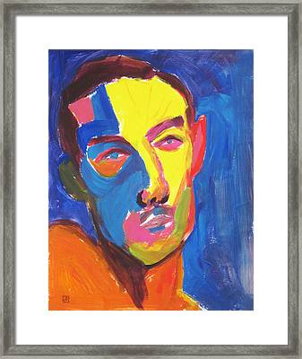 Framed Print featuring the painting Bryan Portrait by Shungaboy X