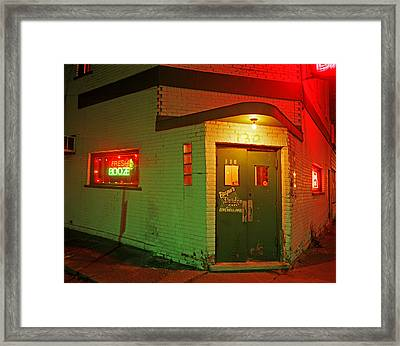 Bryan's Bridge Cafe Framed Print