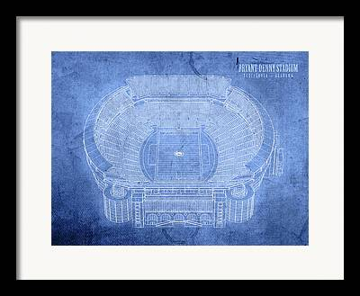 Bryant Denny Stadium Framed Prints