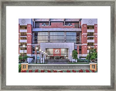 Bryant Denny Stadium Framed Print by JC Findley