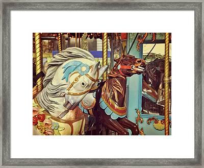 Bryant Park Carrousel Framed Print by JAMART Photography