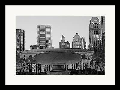 Bryant Park And Public Library Framed Prints
