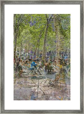 Bryant Park Collage 2 Framed Print