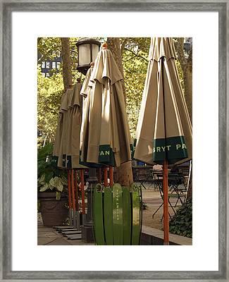 Bryant Park Framed Print by Luis Lugo
