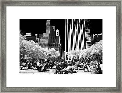 Bryant Park Lunch Framed Print