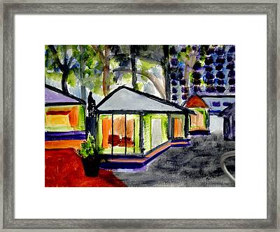 Bryant Park Nyc - Abstract Framed Print by Albert Bercume