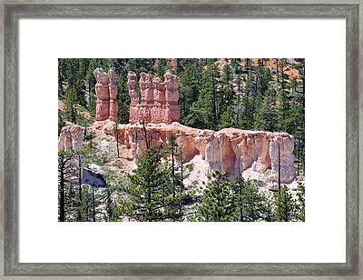 Framed Print featuring the photograph Bryce Canyon Backcountry by Bruce Gourley
