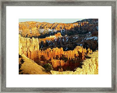 Bryce Canyon Hoodoos Evening Framed Print