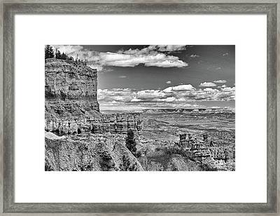 Bryce Canyon In Black And White Framed Print by Nancy Landry