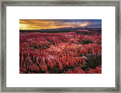 Bryce Canyon In The Glow Of Sunset Framed Print