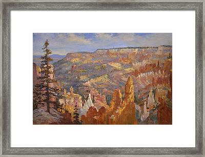 Bryce Canyon Framed Print by Lewis A Ramsey