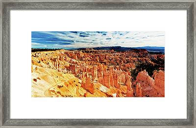Framed Print featuring the photograph Bryce Canyon Overlook by Norman Hall