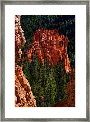 Bryce Canyon Red Rock Framed Print