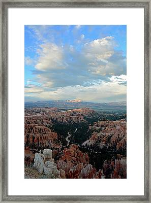 Framed Print featuring the photograph Bryce Canyon Skyview by Bruce Gourley