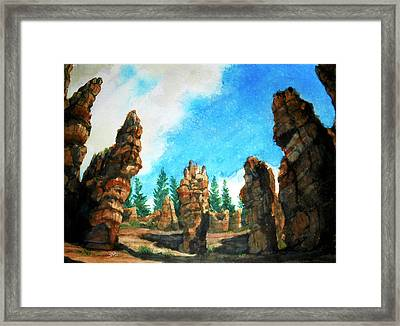 Bryce Canyon Framed Print by Stephen Boyle