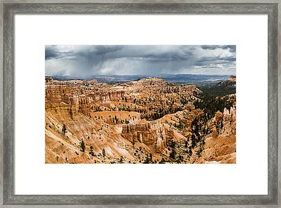 Bryce Canyon Storm Framed Print