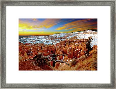 Framed Print featuring the photograph Bryce Canyon Sunrise by Norman Hall