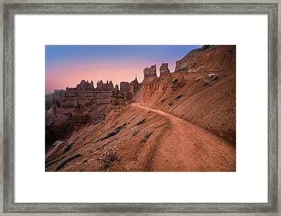 Bryce Canyon Sunset Framed Print by Larry Marshall