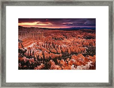 Bryce Canyon Sunset Framed Print by Nolan Nitschke