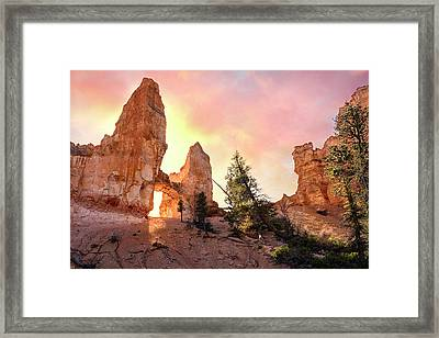 Bryce Canyon - Tower Bridge Framed Print by Thomas Schoeller