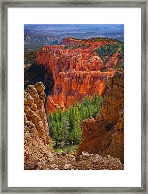 Bryce Canyon Vista Framed Print by Bob Coates