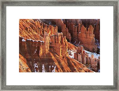Bryce Canyon Winter 7 Framed Print by Bob Christopher