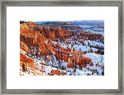 Bryce Canyon Winter 8 Framed Print by Bob Christopher