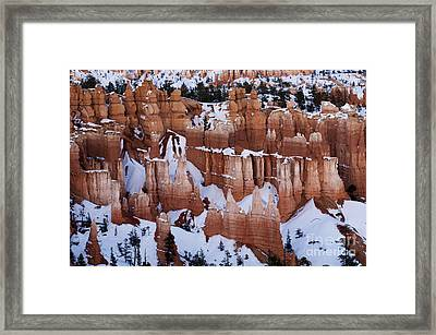 Bryce Canyon Winter 9 Framed Print by Bob Christopher