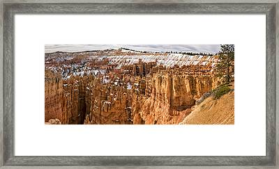 Bryce Canyon Winter Panorama - Bryce Canyon National Park - Utah Framed Print