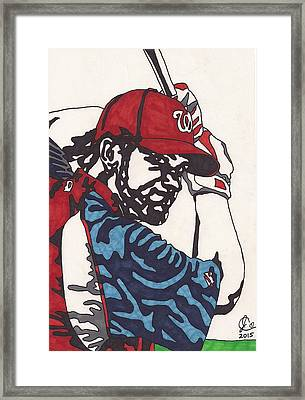 Bryce Harper 1 Framed Print by Jeremiah Colley