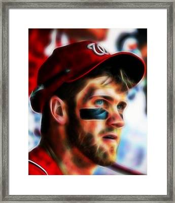 Bryce Harper Framed Print by Paul Van Scott