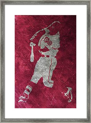 Bryce Harper Washington Nationals Art Framed Print