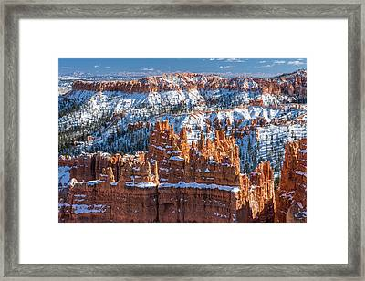 Bryce In Snow Framed Print by Joseph Smith