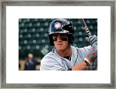 Bryce On Deck Framed Print by Jason Yoder