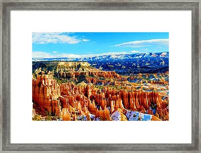 Bryce Overlook Framed Print