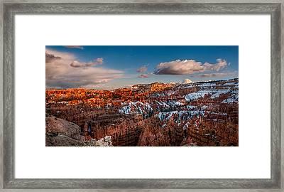 Bryce Sunset Framed Print