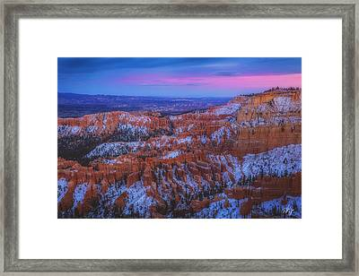 Bryce Twilight Framed Print by Peter Coskun