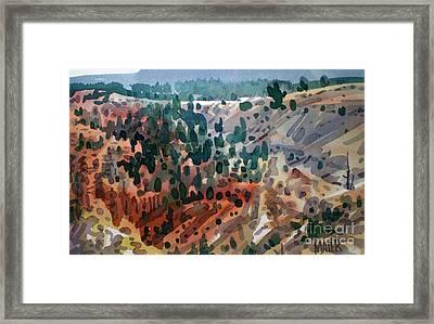 Bryce Vista Framed Print by Donald Maier
