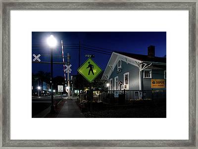 Bryson City Depot At Night Framed Print