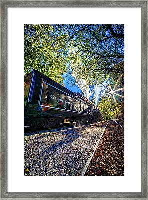Bryson City, Nc October 23, 2016 - Great Smoky Mountains Train R Framed Print
