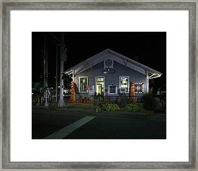Bryson City Train Station Framed Print