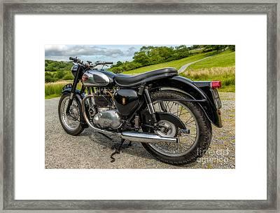 Bsa Motor Bike Framed Print by Adrian Evans