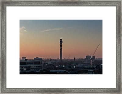 Framed Print featuring the photograph Bt Tower by Stewart Marsden